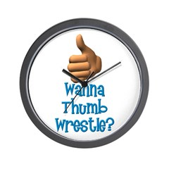 Thumb Wrestle Wall Clock