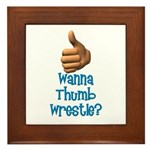 Thumb Wrestle Framed Tile