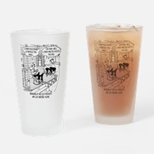 7145_writing_cartoon Drinking Glass