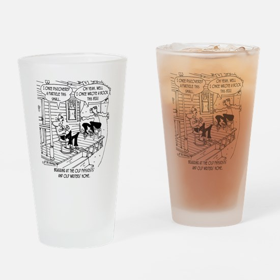 7145_writing_cartoon Drinking Glass