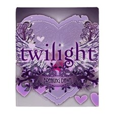 twilight breaking dawn large poster  Throw Blanket