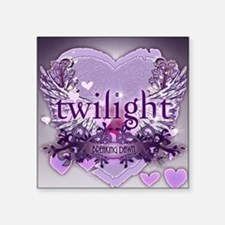 "twilight breaking dawn larg Square Sticker 3"" x 3"""