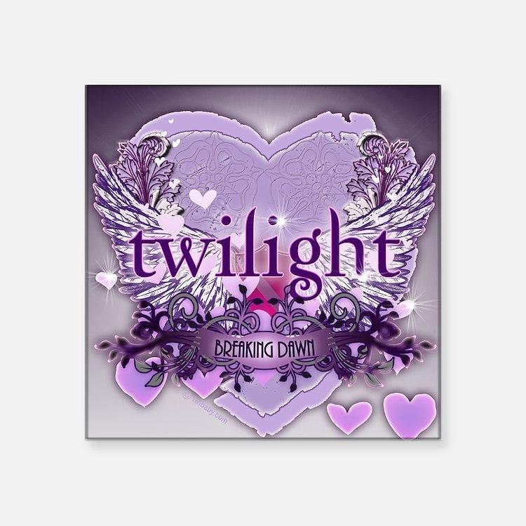 "twilight breaking dawn larg Square Sticker 3"" x 3"""