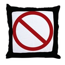 no more vick dark Throw Pillow