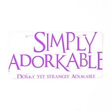 lavendar, Simply Adorkable Aluminum License Plate
