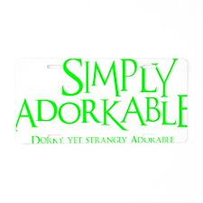neon green, Simply Adorkabl Aluminum License Plate