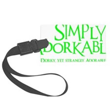neon green, Simply Adorkable Luggage Tag