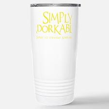 yellow, Simply Adorkable Travel Mug