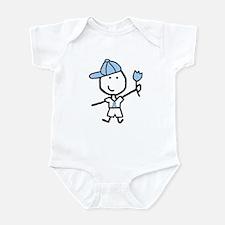Boy & Lt Blue Ribbon Infant Bodysuit
