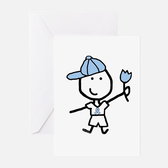 Boy & Lt Blue Ribbon Greeting Cards (Pk of 10)