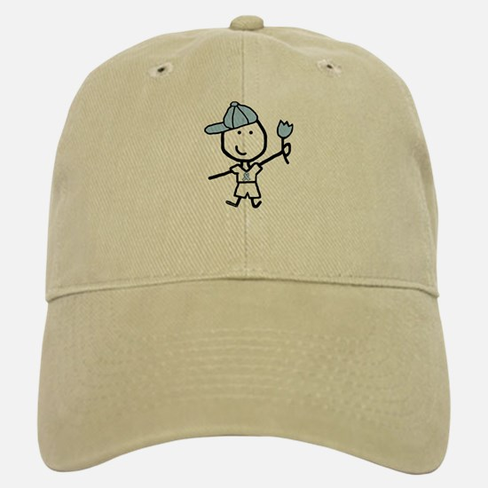 Boy & Lt Blue Ribbon Baseball Baseball Cap