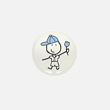 Boy & Lt Blue Ribbon Mini Button (10 pack)