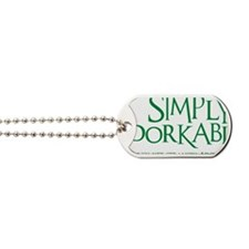 green, Simply Adorkable Dog Tags