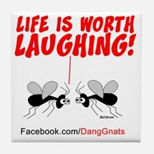 new-gnats-cafepress9-laughing Tile Coaster