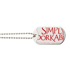 neon red, Simply Adorkable Dog Tags