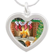 fireplacedogsCP Silver Heart Necklace