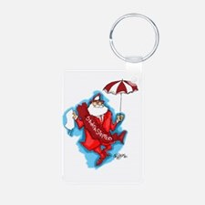 secondline santa Aluminum Photo Keychain