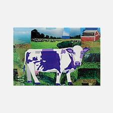 A Purple Cows Paradise Rectangle Magnet