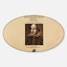 First_Folio-bag Sticker (Oval)