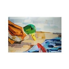 Duck and Fish Rectangle Magnet