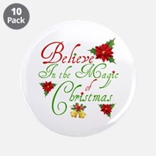 "Believe In The Magic 3.5"" Button (10 pack)"