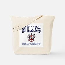 NILES University Tote Bag