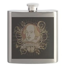 william_shakespeare_gold-bag Flask