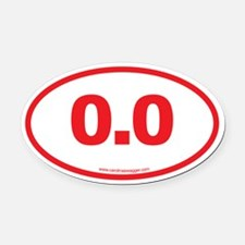 0.0 NO RUNNING Red Oval Car Magnet