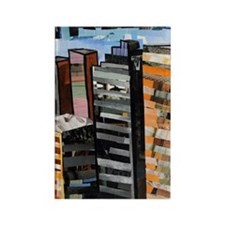 The City by Day Rectangle Magnet