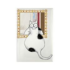 Fat Cat Mirror Rectangle Magnet