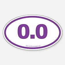 0.0 NO RUNNING Purple Decal
