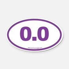 0.0 NO RUNNING Purple Oval Car Magnet