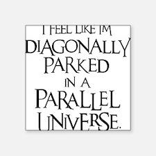 "black, Diagonally Parked Square Sticker 3"" x 3"""