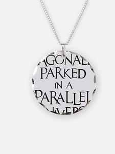 black, Diagonally Parked Necklace