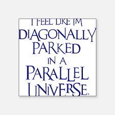 "blue, Diagonally Parked Square Sticker 3"" x 3"""