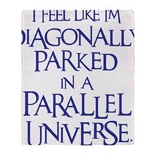 blue, Diagonally Parked Throw Blanket