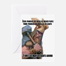 Thor 2 Greeting Card