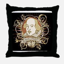 william_shakespeare_gold-bag-2 Throw Pillow