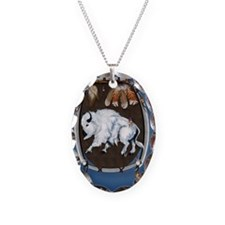 8-NookSleeveWhite Buffalo Shie Necklace Oval Charm