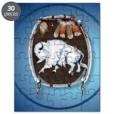 circle White Buffalo Sheild-blue Puzzle