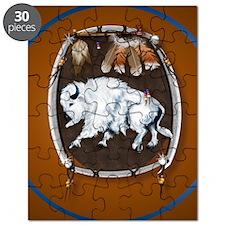 circle White Buffalo Sheild-brown Puzzle