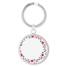 Ask-Me-Who-Smaller Round Keychain