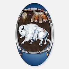 Large PosterWhite Buffalo Shield -b Decal