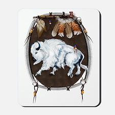 White Buffalo Shield Trans Mousepad