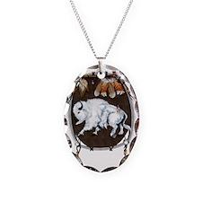 White Buffalo Shield Trans Necklace