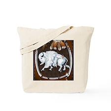 White Buffalo Shield PosterP Tote Bag