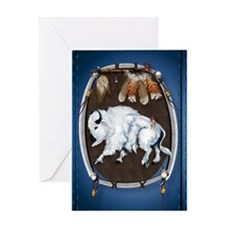 White Buffalo Shield -blue_journal20 Greeting Card