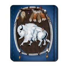 White Buffalo Shield -blue_journal200 Mousepad