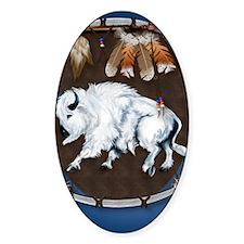 White Buffalo Shield -blue P Decal