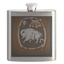 White Buffalo Shield -brown_pillow Flask